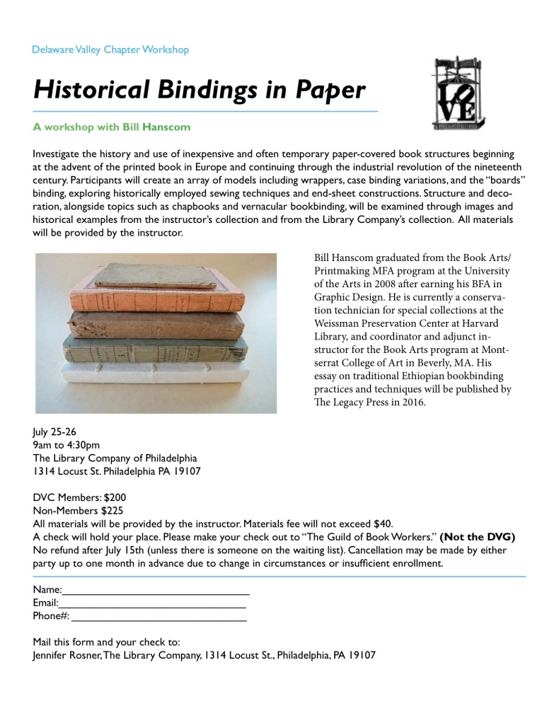 bill hanscom ws paper bindings2015