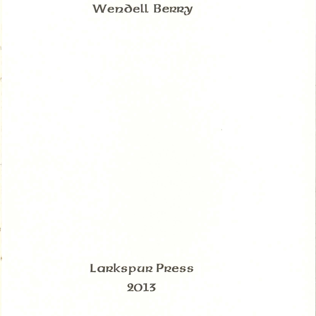 The Farm Title Page
